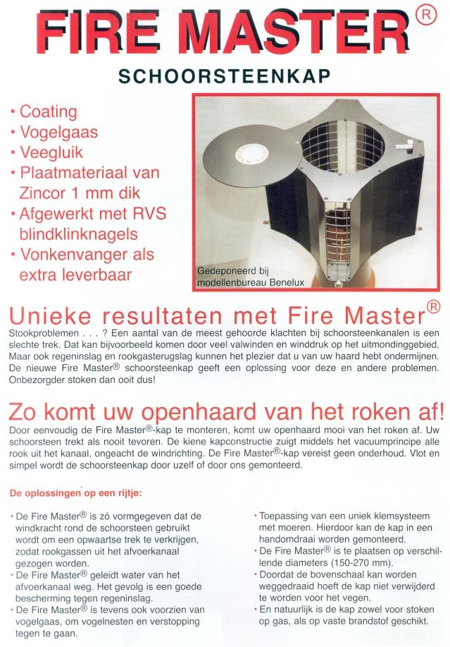 werking firemaster schoorsteenkappen